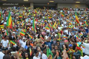 Ethiopians gathered at the Ethiopian Sports Federation of North America's (ESFNA) annual sports tournament and festival. The 2015 edition was held in Washington DC (Photo credit: Ethiotube)
