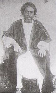 Aba Jiffar Jimma II, ruler of the Kingdom of Jimma. His rule predated the expansionist conquests of the future Emperor Menelik (Photo credit: Wikipedia)