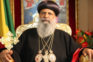 Ethiopian Orthodox Patriarch Abune Mathias recently pledged to wipe out corruption from the core of the church (Photo credit: Radio Fana)