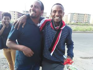 Befeqadu Hailu enjoying his newly gained freedom (Photo credit: Zone 9's official Facebook page)