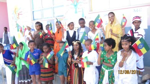 School children celebrating Ethiopia's annual Nations and Nationalities holiday wearing the cultural attire of many of Ethiopia's ethnic groups (Photo credit: Segenat Foundation)