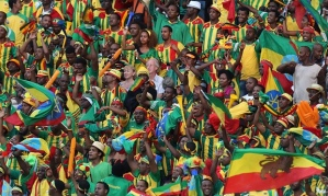 Ethiopian football fans at the 2013 African Cup of Nations in South Africa (Photo credit: The Guardian)