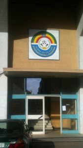 The office of the Ethiopian football federation in Addis Ababa. An organisation frequently criticized for its outright mediocrity at times