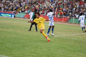 Rehima Zerga wheeling away to celebrate another goal for her country here, was a catalyst of the team that qualified for Equatorial Guinea 2012 (Photo credit: Melaku Ayele Melisho)